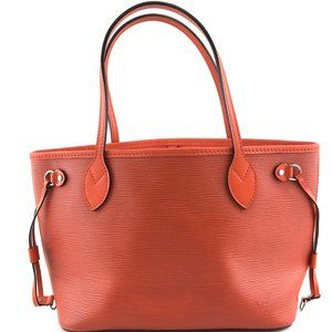 Louis Vuitton Neverfull Pm Epi Orange Leather Tote